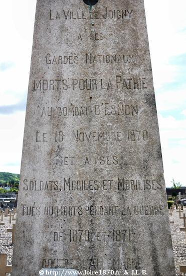 Monument au morts de 1870 de la commune de joigny for Piscine de joigny